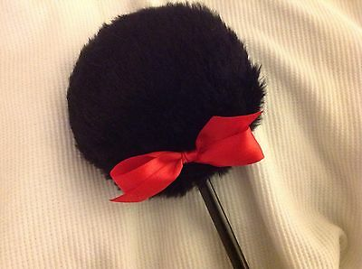 Black Lollipop body powder puff, powder puff with red (or choice) and handle