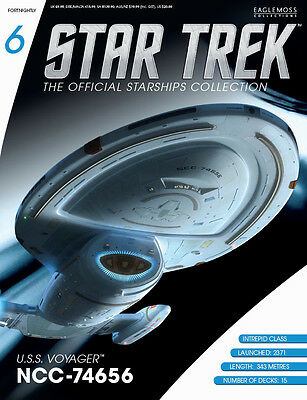 Star Trek Official Starship Collection Issue 6 USS Voyager NCC-74656