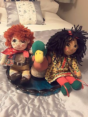 """Rosie & Jim 10"""" with Rare Duck + book"""
