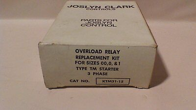 Joslyn Clark Overload Relay Replacement Kit KTM31-15 for sizes 00,0,&1 NIB