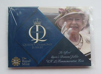 Queen's Diamond Jubilee £5 coin in sealed Royal Mint presentation card