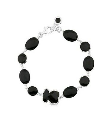 Autentic original Tous New Color Onice Onyx Silver Bear Bracelet
