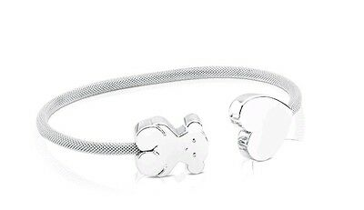 Autentic original Tous New Mesh Bear Heart Bracelet