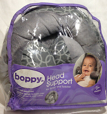 Boppy Infant / Toddler Head Support with Removable Ring, Reversible, Grey EUC