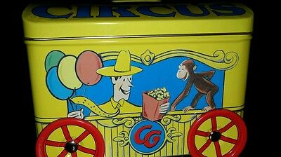 Curious George Circus Metal Bank with Wheels