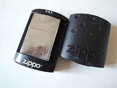 Authentic Zippo Lighter - Wolf Tracks 250 - No Inside Guts Insert