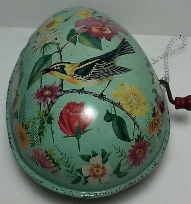 1950 Mattel tin easter egg windup musical toy #513 Ted Duncan