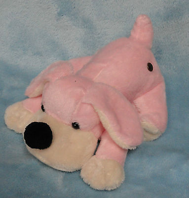 FAO Schwarz Plush Penelope Pink Puppy Dog Small Stuffed Toy 8""