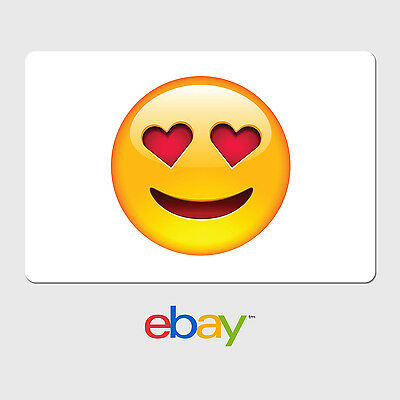 eBay Digital Gift Card - Heart Eyes Emoji - Email Delivery