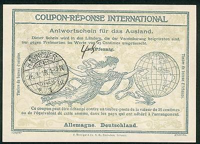 Germany 1918 IAS Nr. 5 Antwortschein reply coupon hu89