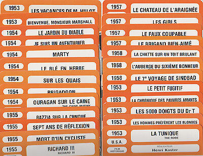 LOT DE 30 FICHES MONSIEUR CINEMA FILMS ANNEES 50 voir detail