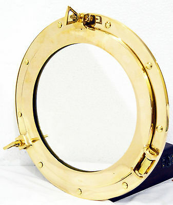 Brass Porthole Mirror Ship Porthole Round Glass Porthole  Nautical Maritime