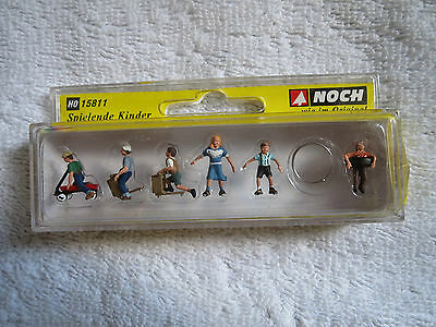 Model Railways - New Boxed Ho Gauge Noch Playing Children 15811 Scale 1/87