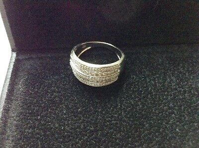 Bague Le Diamantaire Double Kiss en taille 53, Or Blanc & Diamants, 0,50 cts
