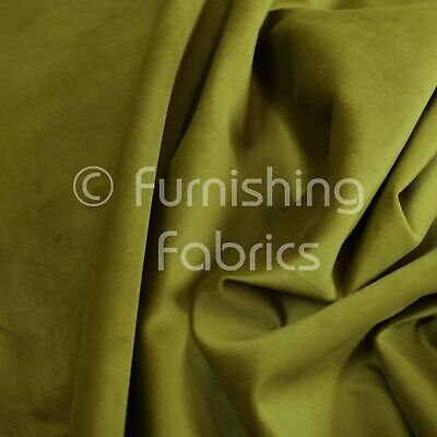 New Soft Plush Plain Glossy Velvet Modern Upholstery Curtain Fabrics In Green