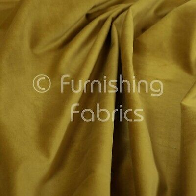 New Soft Plush Plain Glossy Velvet Modern Upholstery Curtain Fabrics Gold Yellow