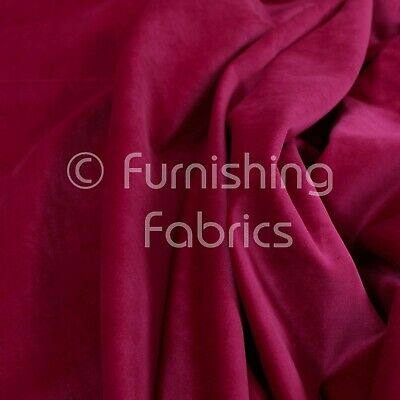 New Soft Plush Plain Glossy Velvet Modern Upholstery Curtain Fabric Bright Pink