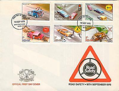 Kenya Michel Nr. 119-124 on big FDC road safety ga86-2