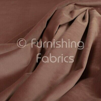 New Soft Plush Plain Glossy Velvet Modern Upholstery Curtain Fabrics Rose Pink