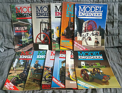 MODEL ENGINEER MAGAZINE - 11 copies from 1987