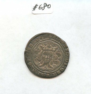 Great Britain 1369-77 Groat (#680) Edward II Very Nice Detail. Carefully Check o