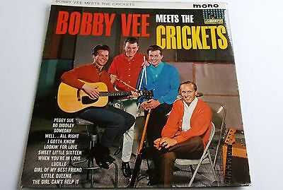 Bobby Vee Meets The Crickets   Lp Cover Only Liberty Records 1962 A Nice Sleeve