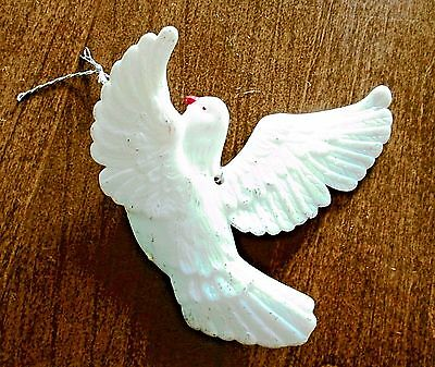 Hanging White Dove Christmas Tree Ornament Figurine