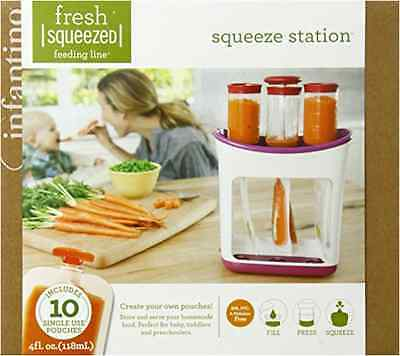 Infantino Squeeze Station Press & Store Ready To Go Baby Toddler Squeeze Pouche