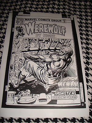 Werewolf By Night Terror Horror Advertising Cover Production Art Acetate