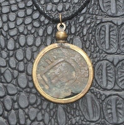 Authentic Pirate Shipwreck 8 Maravedis Copper Coin Necklace with Treasure Chest