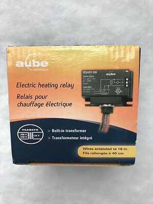 Aube RC840T-240 On/Off Switching Electric Heating Relay with Built-in 24 V
