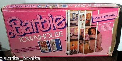 "Vintage 1984 BARBIE TOWNHOUSE 43"" Tall #7825 Mattel NEW IN BOX Elevator READ"