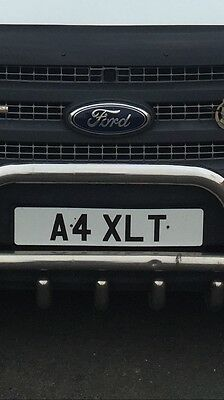 private plate A4 Xlt
