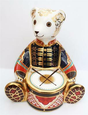 Royal Crown Derby Drummer Bear 1St Quality Gold Stopper