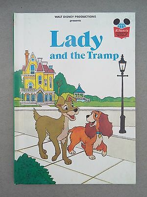 Vintage Disney's Wonderful World of Reading Book Lady and the Tramp 1st Ed. 1981