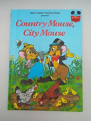 Vintage Disney's Wonderful World of Reading Book Country Mouse, City Mouse 1st