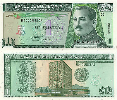 Guatemala 1 Quetzal (28.1.1996) - General Orellana/Bank Building/p97a UNC