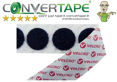VELCRO® Brand PS14 Self Adhesive Hook & Loop Dots Coins Circles 22mm|2.2cm BLACK