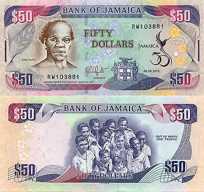 Jamaica 50 Dollars (2012) - 50th Anniversary of Independence/p89 UNC