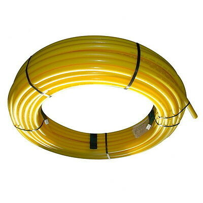 British 25mm x 50m Coil PE Gas Pipe MDPE Yellow Service Mains Gas/LPG Pipe SDR11