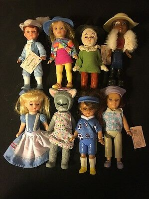 "Madame Alexander 4"" Dolls Lot Of 8 Made For McDonalds"