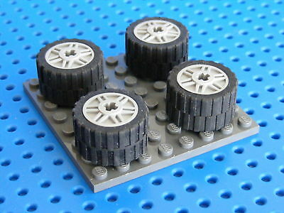 LEGO 4x Big Wheels And Tyres With Axle Holes - Choose Your Colour (55982)