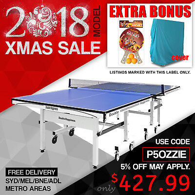 Double Happiness Quality 25MM Top Pro Size Table Tennis Ping Pong Table Free Bat