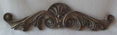 Lovely Brushed Antique Gold Resin Door / Window Topper Pediment 14-1/2""