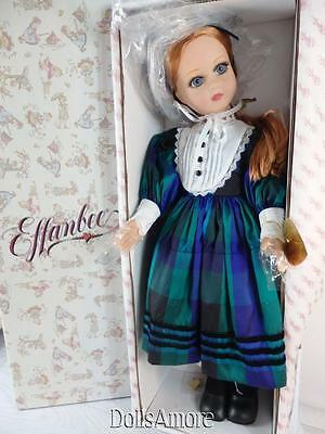 "Beautiful Effanbee ""pretty In Plaid"" Redheaded Honey 21"" Doll Nib"