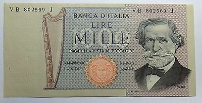 Italy 1969 (1971) 1000 Lire Note Banca D'Italia  Pick# 101: About New to New
