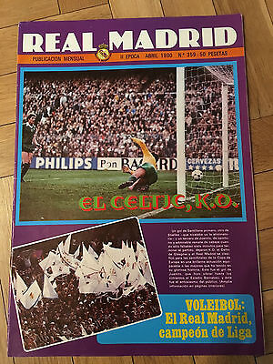 Magazine Official Real Madrid 3-0 Celtic Glasgow European Cup 1979 1980
