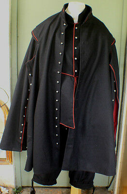 17th Century wool Cassock with pewter buttons Large  42-48