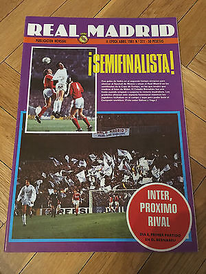 Magazine Official Real Madrid Spartak Moscow Inter Milan European Cup 1980 1981