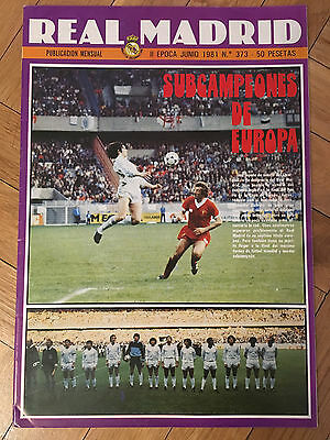 Magazine Official Real Madrid 0-1 Liverpool Final European Cup 1980 1981